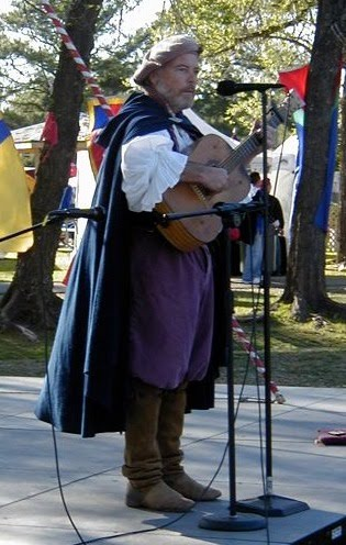 Owain Phyfe on stage at the Norman Medieval Fair in 2005